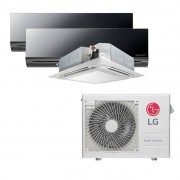 Ar Condicionado Multi Split Inverter LG 24.000 BTUS Quente/Frio 220V +1x High Wall LG Art Cool 9.000 BTUS +1x Cassete 4 Vias LG 9.000 BTUS +1x High Wall LG Art Cool 12.000 BTUS