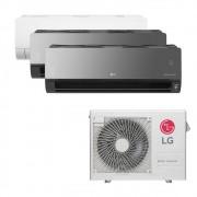Ar Condicionado Multi Split Inverter LG 24.000 BTUS Quente/Frio 220V +1x High Wall LG Com Display 9.000 BTUS +2x High Wall LG Art Cool com Display e Wi-Fi 12.000 BTUS
