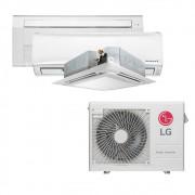 Ar Condicionado Multi Split Inverter LG 24.000 BTUS Quente/Frio 220V +1x High Wall LG Libero 7.000 BTUS +1x Cassete 4 Vias LG 9.000 BTUS +1x Cassete 1 Via LG 12.000 BTUS