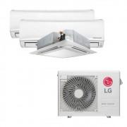 Ar Condicionado Multi Split Inverter LG 24.000 BTUS Quente/Frio 220V +2x High Wall LG Libero 7.000 BTUS +1x Cassete 4 Vias LG 9.000 BTUS