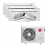 Ar Condicionado Multi Split Inverter LG 30.000 BTUS Quente/Frio 220V +2x Cassete 1 Via LG 9.000 BTUS +1x Cassete 1 Via LG 12.000 BTUS +1x Cassete 4 Vias LG 18.000 BTUS