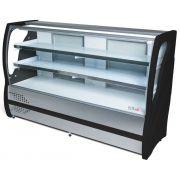 Balcão Refrigerado Vidro Curvo 1,25cm Preto Inox 220V BBRC-125PT Polar Refrigeração
