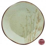 Prato Raso Em Porcelana 27cm Ryo Bambu Oxford