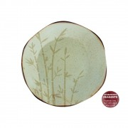 Prato Sobremesa Em Porcelana 21,5cm Ryo Bambu Oxford