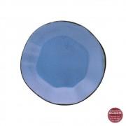 Prato Sobremesa Em Porcelana 21,5cm Ryo Santorini Oxford