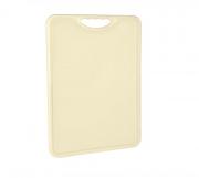 Tábua Plástica Para Corte Antimicrobiana Bege Alves Plastic 35x50