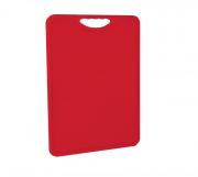Tábua Plástica Para Corte Antimicrobiana Vermelha Alves Plastic 30x40