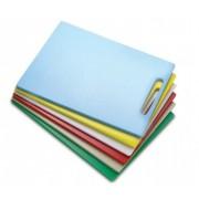 Tábua Plástica Para Corte Com Pegador Amarelo 50x50x01cm SOLRAC