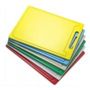 Tábua Plástica Para Corte Com Pegador Canaleta Azul 50x50x01cm SOLRAC
