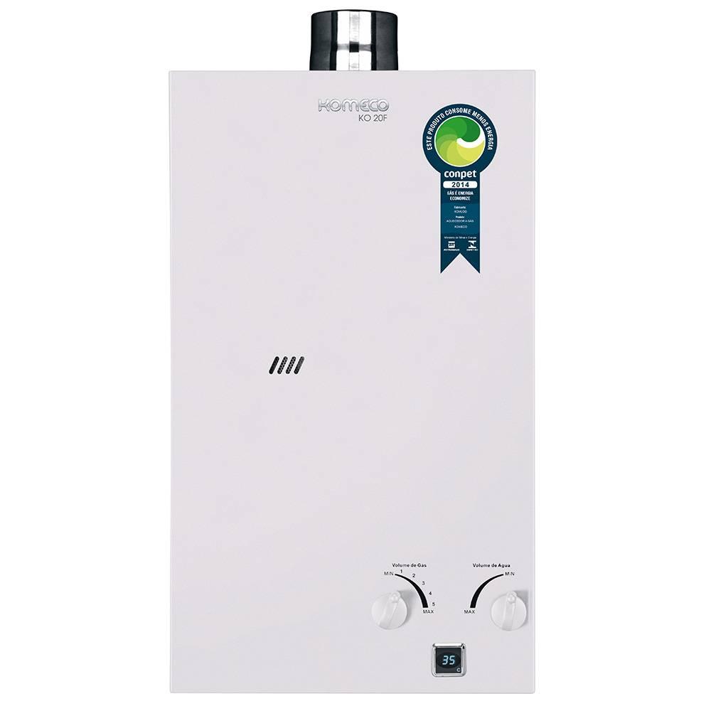 Aquecedor de Água a Gás Komeco 19,5 Litros/min KO 20F GN