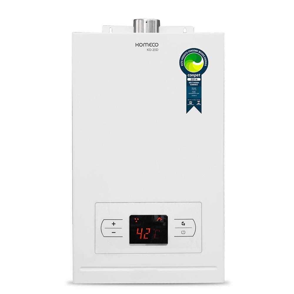 Aquecedor de Água a Gás Komeco Digital 19,5 Litros/min KO 20D GLP
