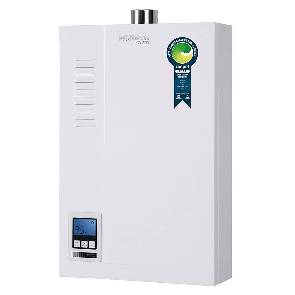 Aquecedor de Água a Gás Komeco Digital 20,5 Litros/min KO 22D GN