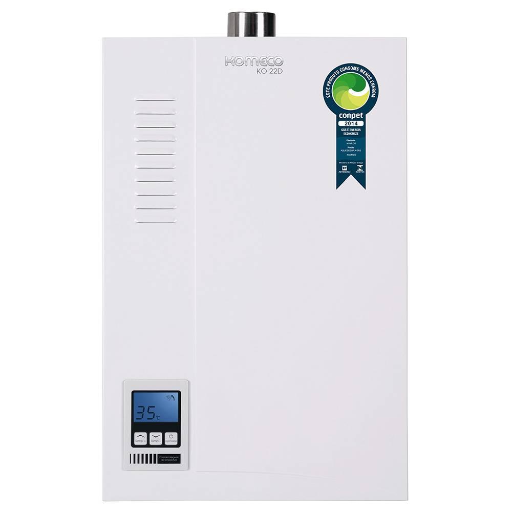 Aquecedor de Água a Gás Komeco Digital 22,5 Litros/min KO 22D GLP