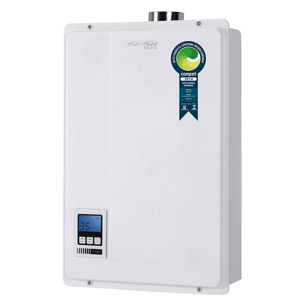Aquecedor de Água a Gás Komeco Digital 30 Litros/min KO 31D GLP