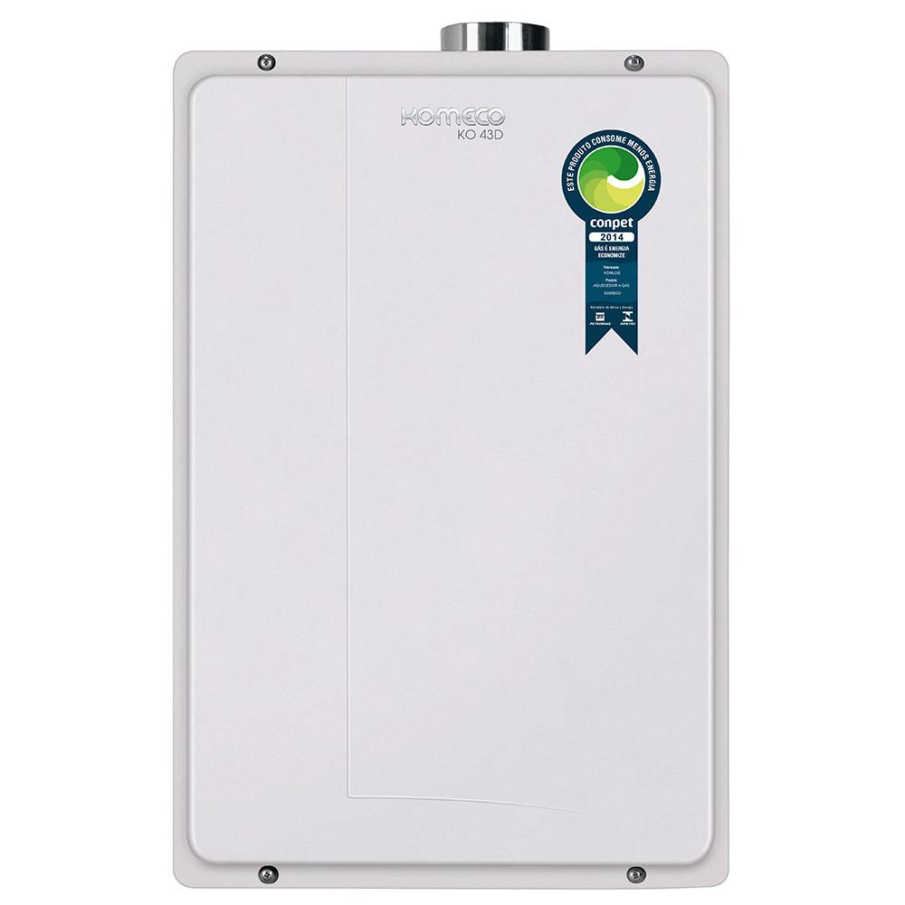 Aquecedor de Água a Gás Komeco Digital 42 Litros/min KO 43D GLP