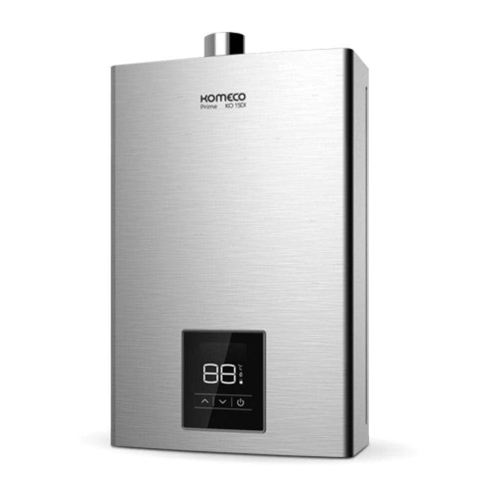 Aquecedor de Água a Gás Komeco Digital Inox 15 Litros/min KO 15DI PRIME GN
