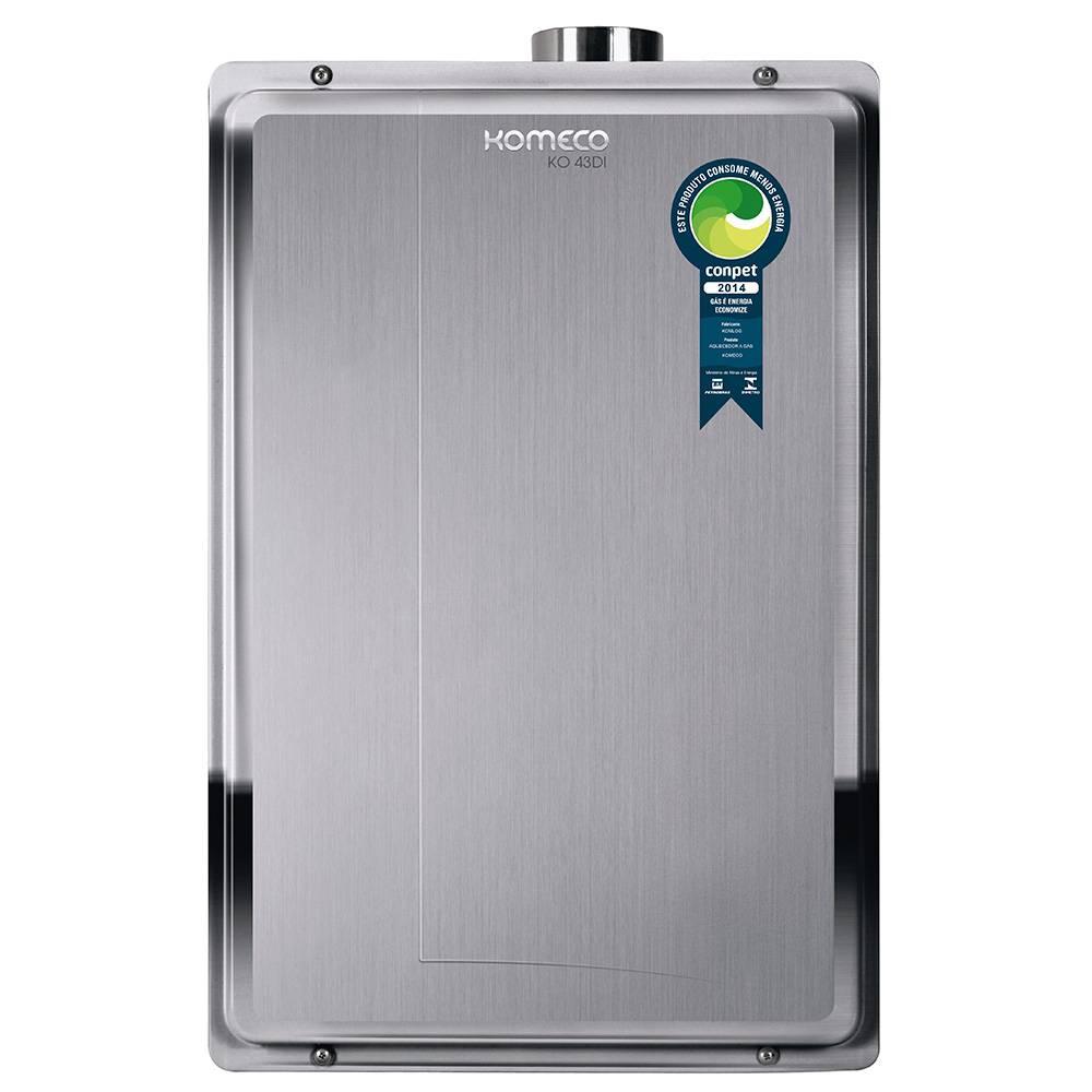 Aquecedor de Água a Gás Komeco Digital Inox 42 Litros/min KO 43DI GLP