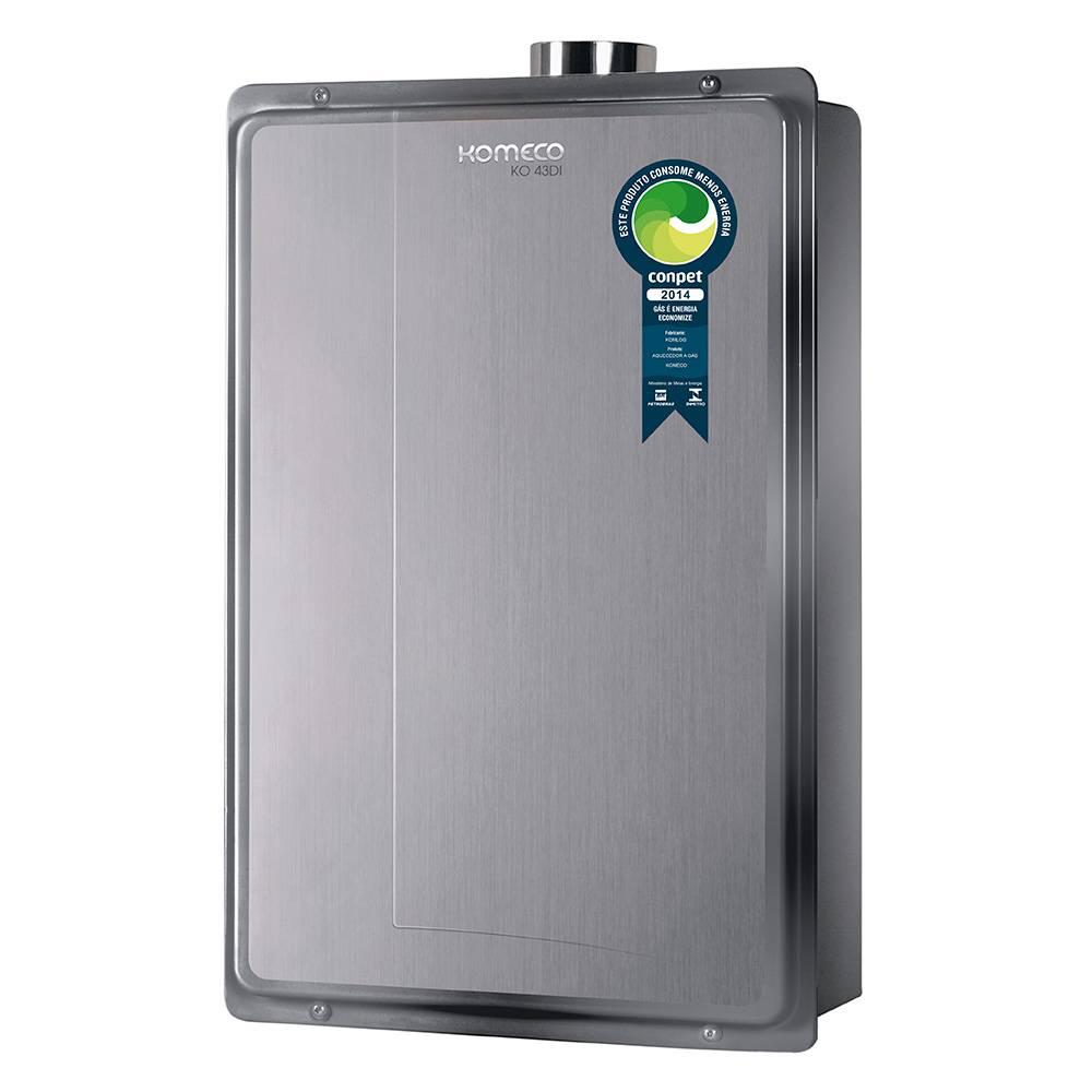 Aquecedor de Água a Gás Komeco Digital Inox 43,5 Litros/min KO 43DI GN