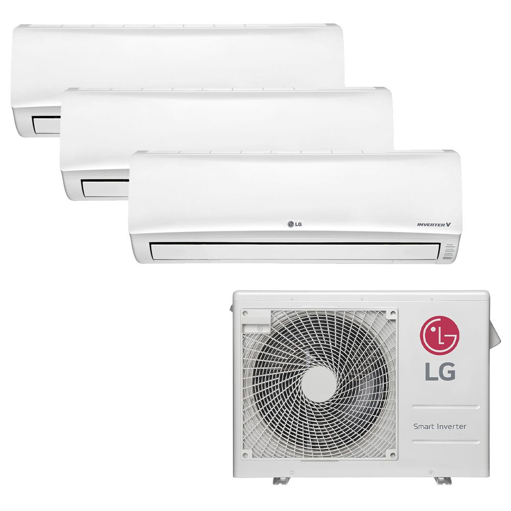 Ar Condicionado Multi Inverter LG 24.000 BTUS Quente/Frio 220V + 3x High Wall Libero 7.000 BTUS