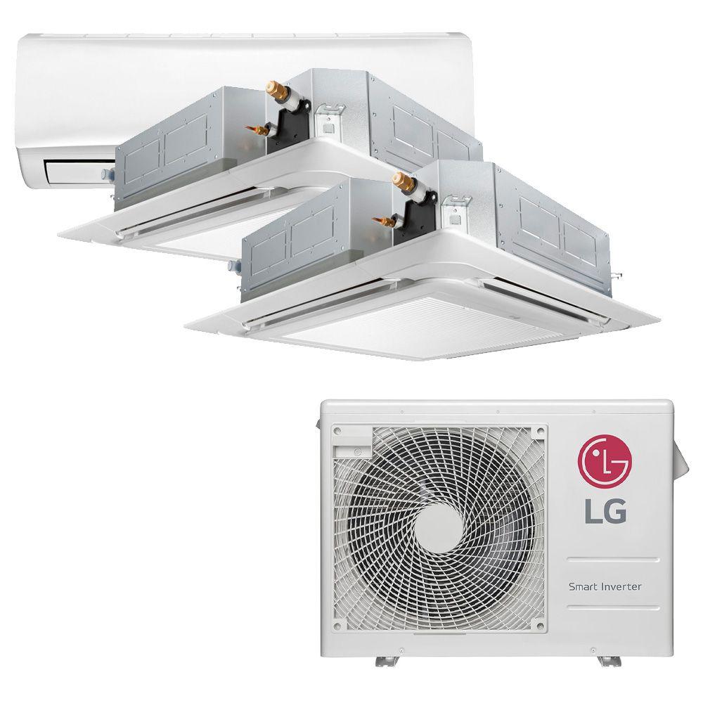 Ar Condicionado Multi Inverter LG 24.000 BTUS Quente/Frio 220V + 1x High Wall Libero 7.000 BTUS + 2x Cassete 4 Vias 9.000 BTUS