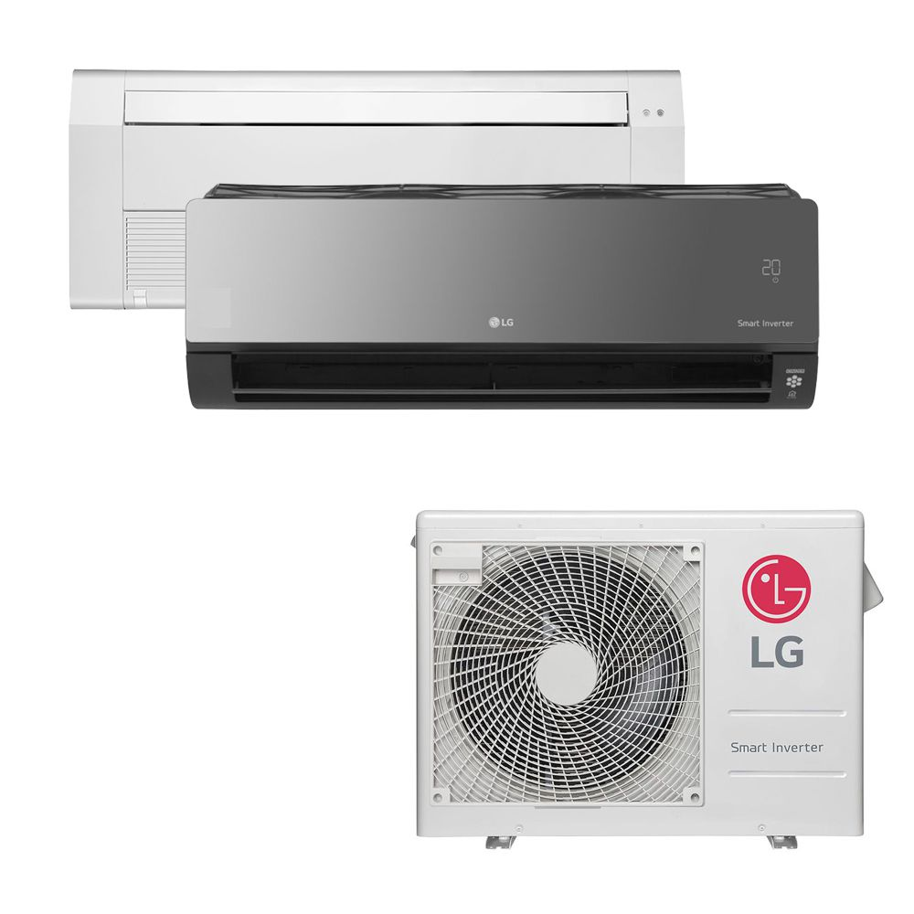 Ar Condicionado Multi Split Inverter LG 18.000 BTUS Quente/Frio 220V +1x Cassete 1 Via LG 9.000 BTUS +1x High Wall LG Art Cool com Display e Wi-Fi 12.000 BTUS