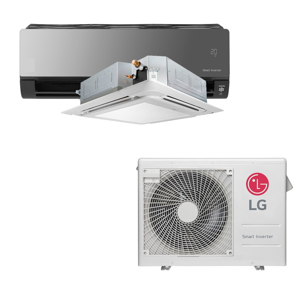 Ar Condicionado Multi Split Inverter LG 18.000 BTUS Quente/Frio 220V +1x Cassete 4 Vias LG 12.000 BTUS +1x High Wall LG Art Cool com Display e Wi-Fi 12.000 BTUS