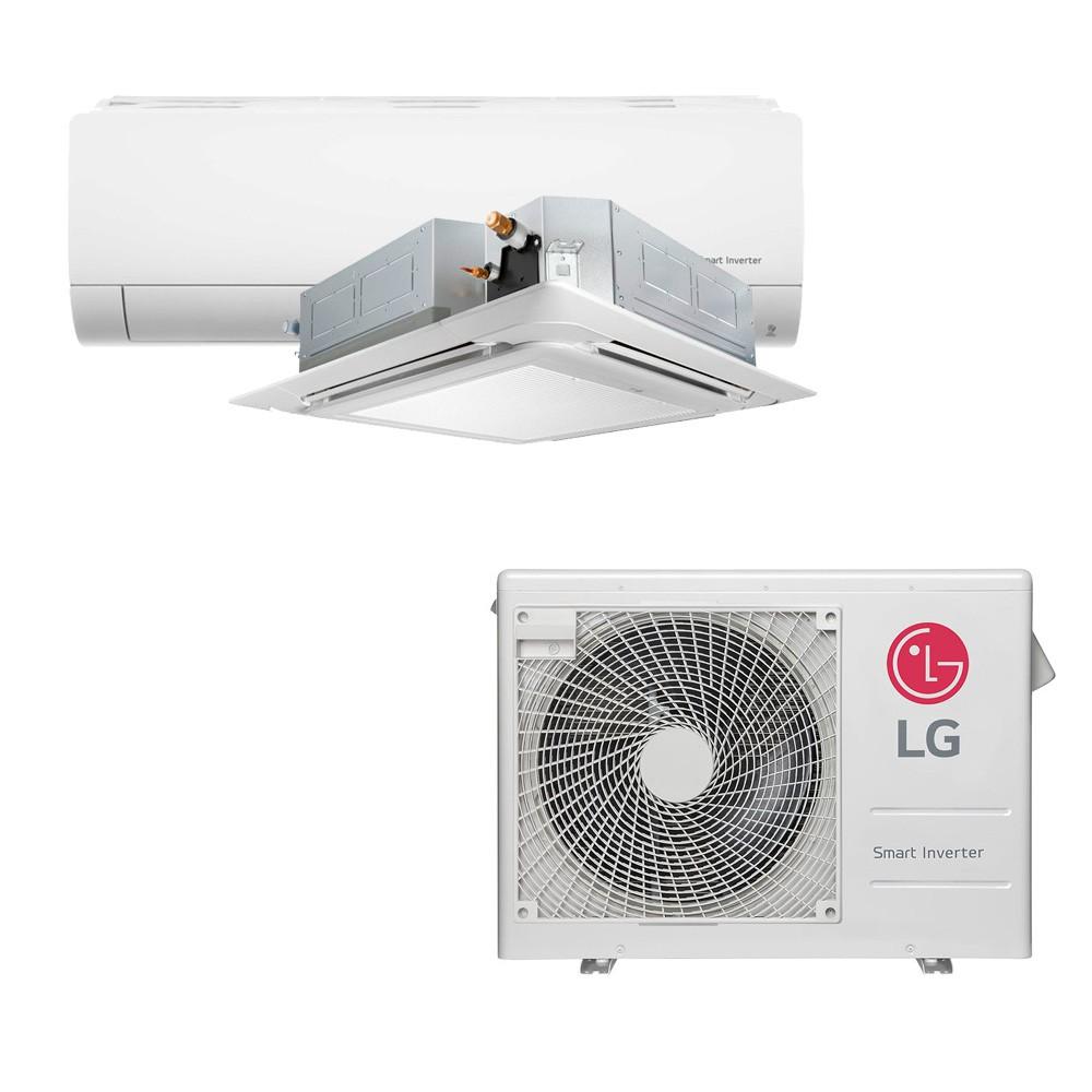 Ar Condicionado Multi Split Inverter LG 18.000 BTUS Quente/Frio 220V +1x Cassete 4 Vias LG 9.000 BTUS +1x High Wall LG Com Display 9.000 BTUS