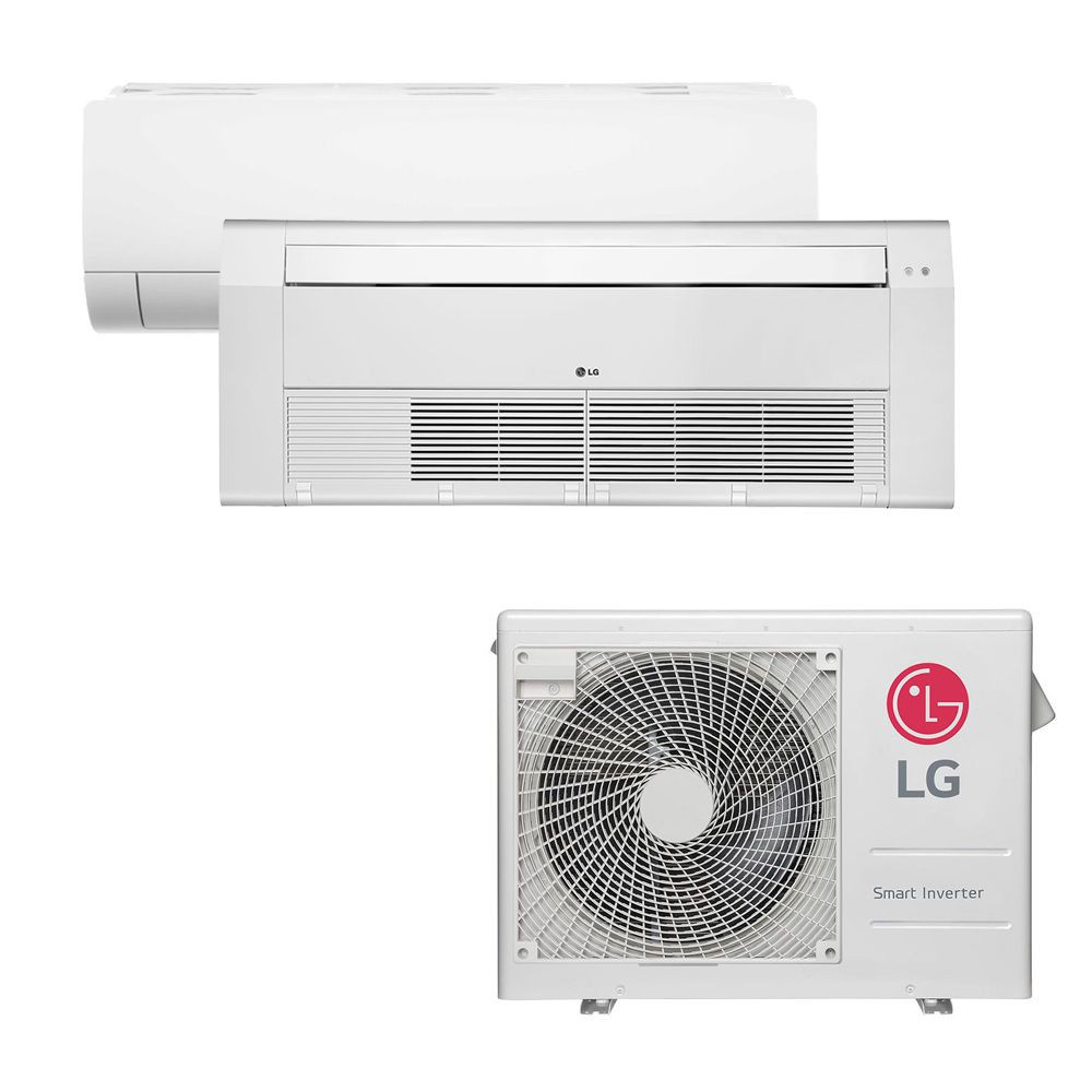 Ar Condicionado Multi Split Inverter LG 18.000 BTUS Quente/Frio 220V +1x High Wall LG Com Display 9.000 BTUS +1x Cassete 1 Via LG 12.000 BTUS
