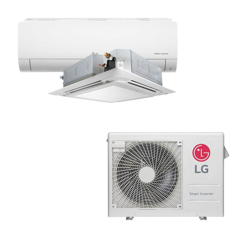 Ar Condicionado Multi Split Inverter LG 18.000 BTUS Quente/Frio 220V +1x High Wall LG Com Display 9.000 BTUS +1x Cassete 4 Vias LG 12.000 BTUS