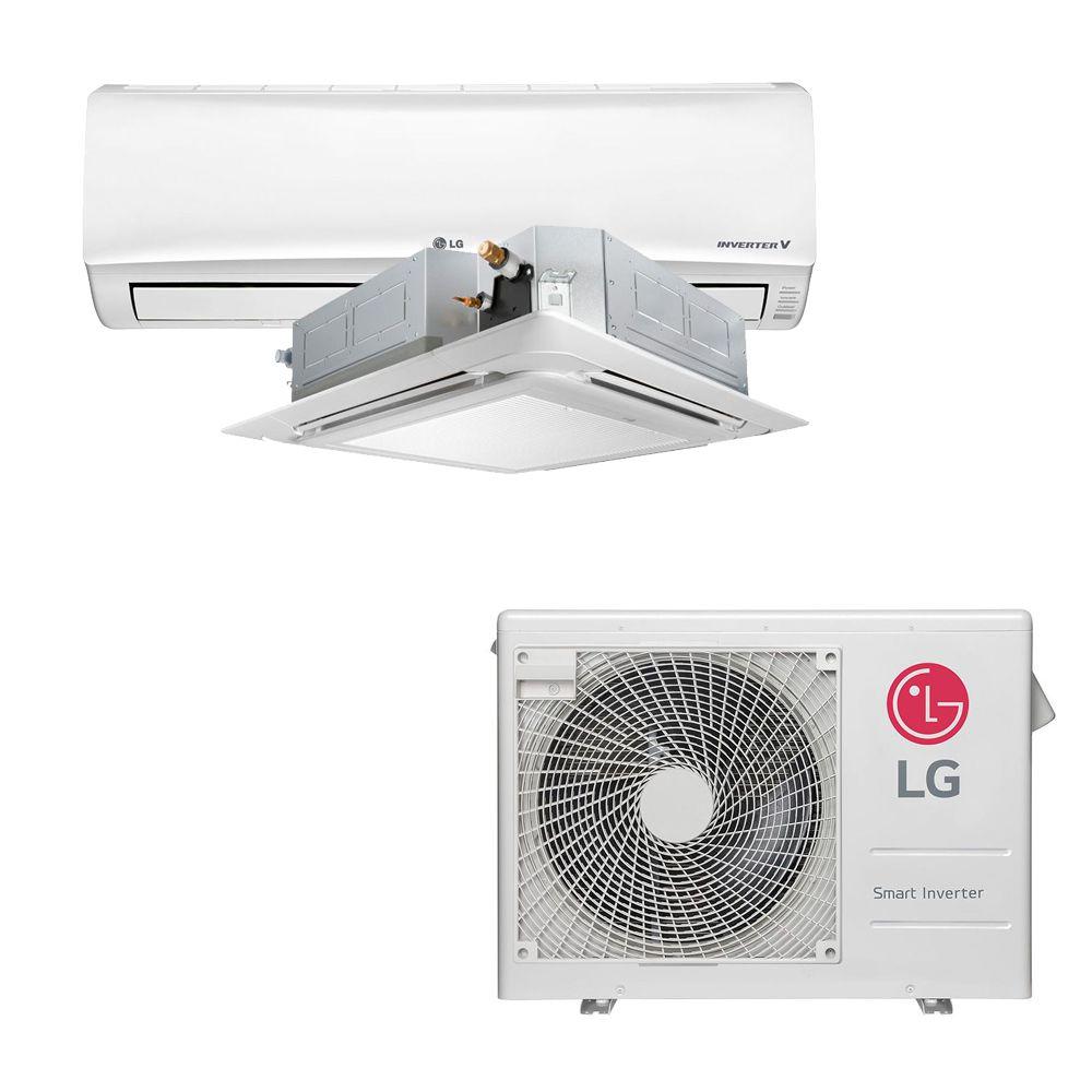 Ar Condicionado Multi Split Inverter LG 18.000 BTUS Quente/Frio 220V +1x High Wall LG Libero 7.000 BTUS +1x Cassete 4 Vias LG 9.000 BTUS