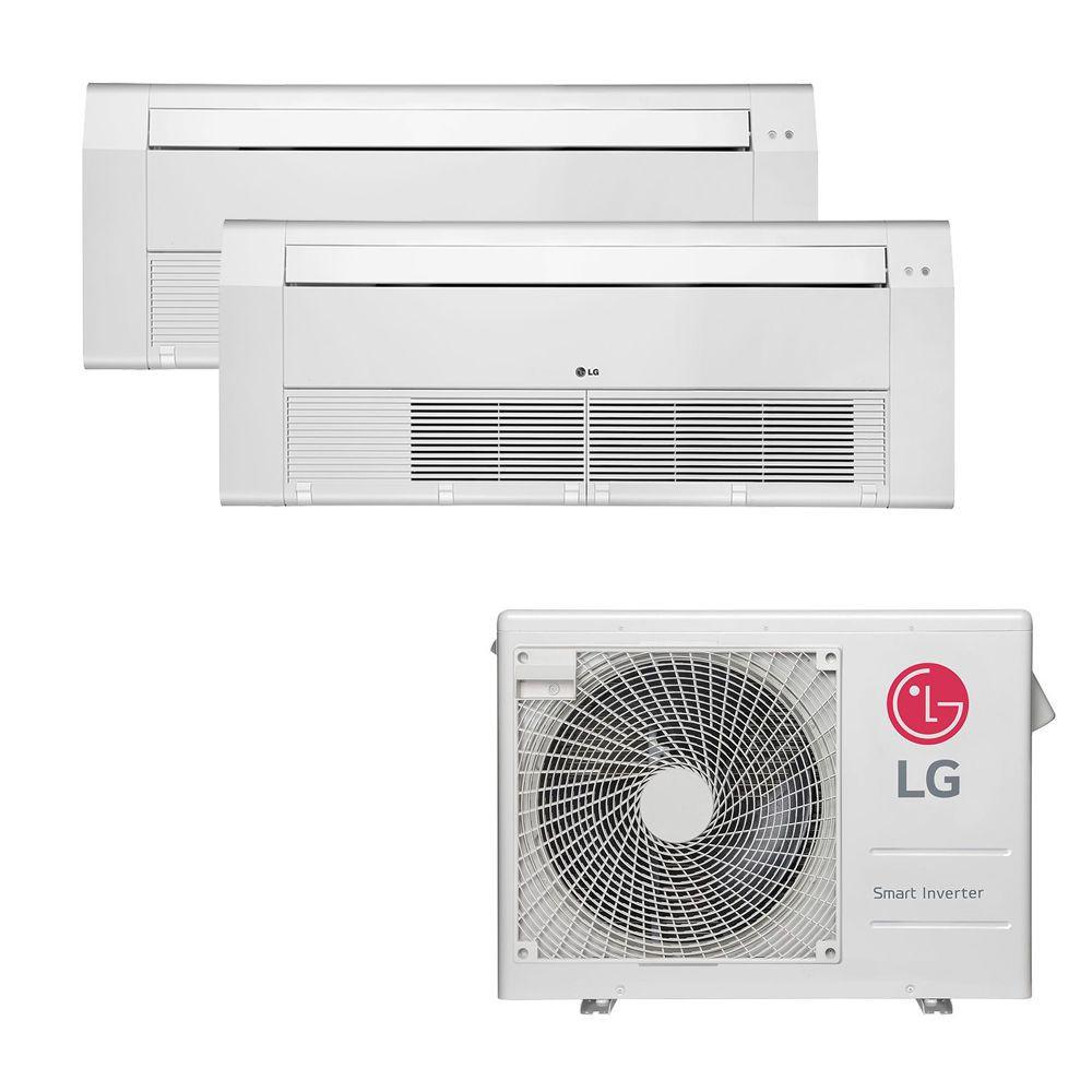 Ar Condicionado Multi Split Inverter LG 18.000 BTUS Quente/Frio 220V +2x Cassete 1 Via LG 9.000 BTUS