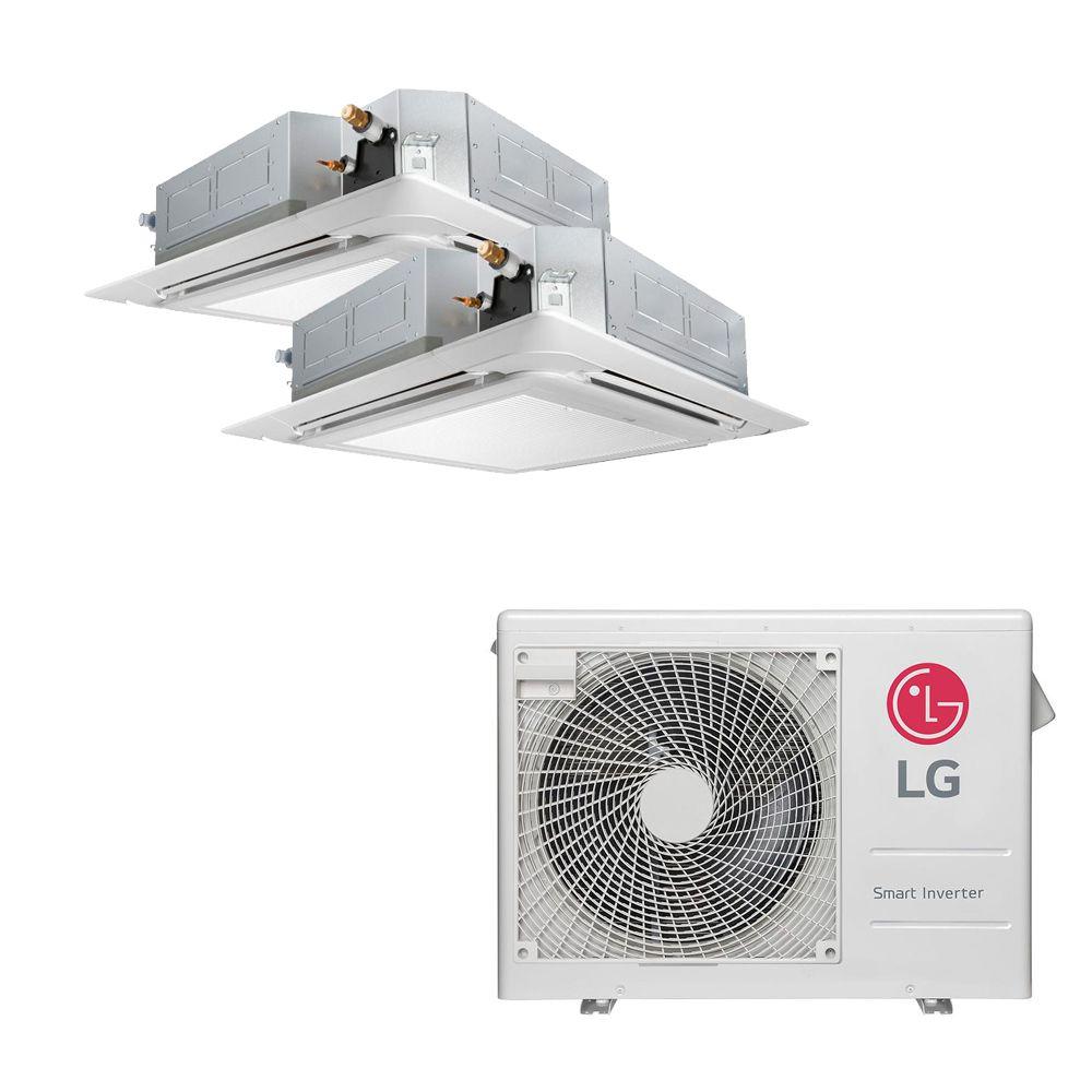 Ar Condicionado Multi Split Inverter LG 18.000 BTUS Quente/Frio 220V +2x Cassete 4 Vias LG 12.000 BTUS