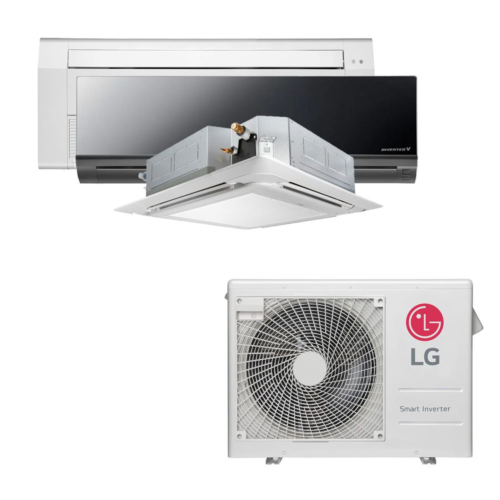 Ar Condicionado Multi Split Inverter LG 24.000 BTUS Quente/Frio 220V +1x Cassete 1 Via LG 12.000 BTUS +1x High Wall LG Art Cool 12.000 BTUS +1x Cassete 4 Vias LG 12.000 BTUS