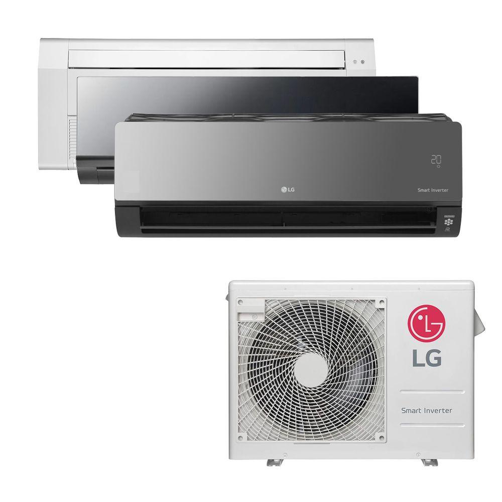 Ar Condicionado Multi Split Inverter LG  24.000 BTUS Quente/Frio 220V +1x Cassete 1 Via  9.000 BTUS +1x HW  Art Cool 9.000 BTUS +1x HW  Art Cool com Display e Wi-Fi 12.000 BTUS