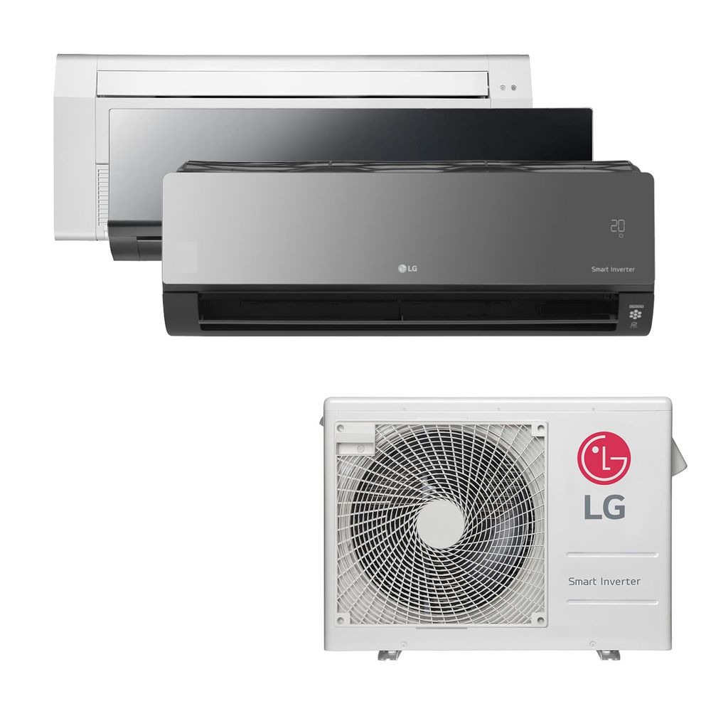Ar Condicionado Multi Split Inverter LG  24.000 BTUS Quente/Frio 220V +1x Cassete 1 Via  9.000 BTUS +1x HW  Art Cool 9.000 BTUS +1x HW  Art Cool com Display e Wi-Fi 18.000 BTUS
