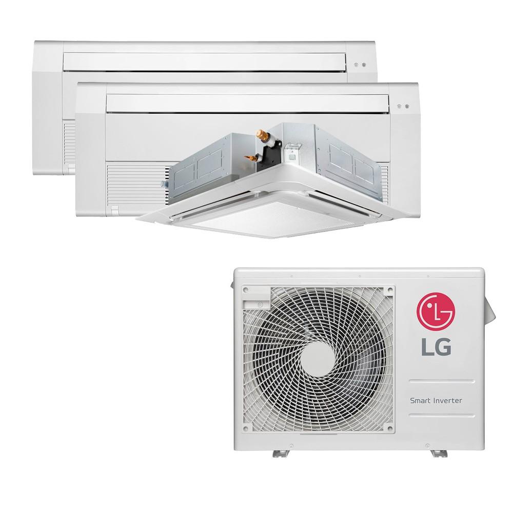 Ar Condicionado Multi Split Inverter LG 24.000 BTUS Quente/Frio 220V +1x Cassete 1 Via LG 9.000 BTUS +1x Cassete 4 Vias LG 9.000 BTUS +1x Cassete 1 Via LG 12.000 BTUS
