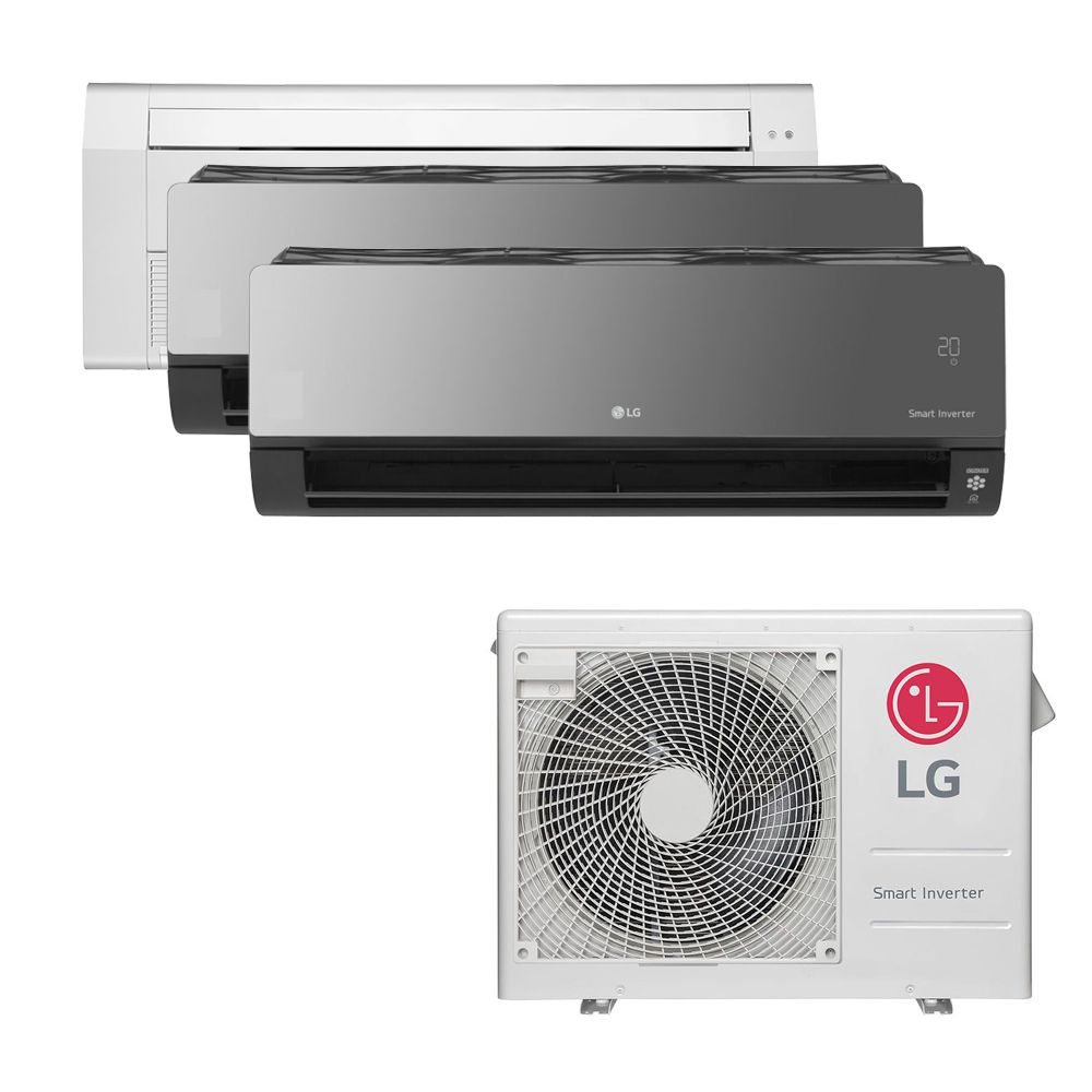 Ar Condicionado Multi Split Inverter LG 24.000 BTUS Quente/Frio 220V +1x Cassete 1 Via LG 9.000 BTUS +2x High Wall LG Art Cool com Display e Wi-Fi 12.000 BTUS