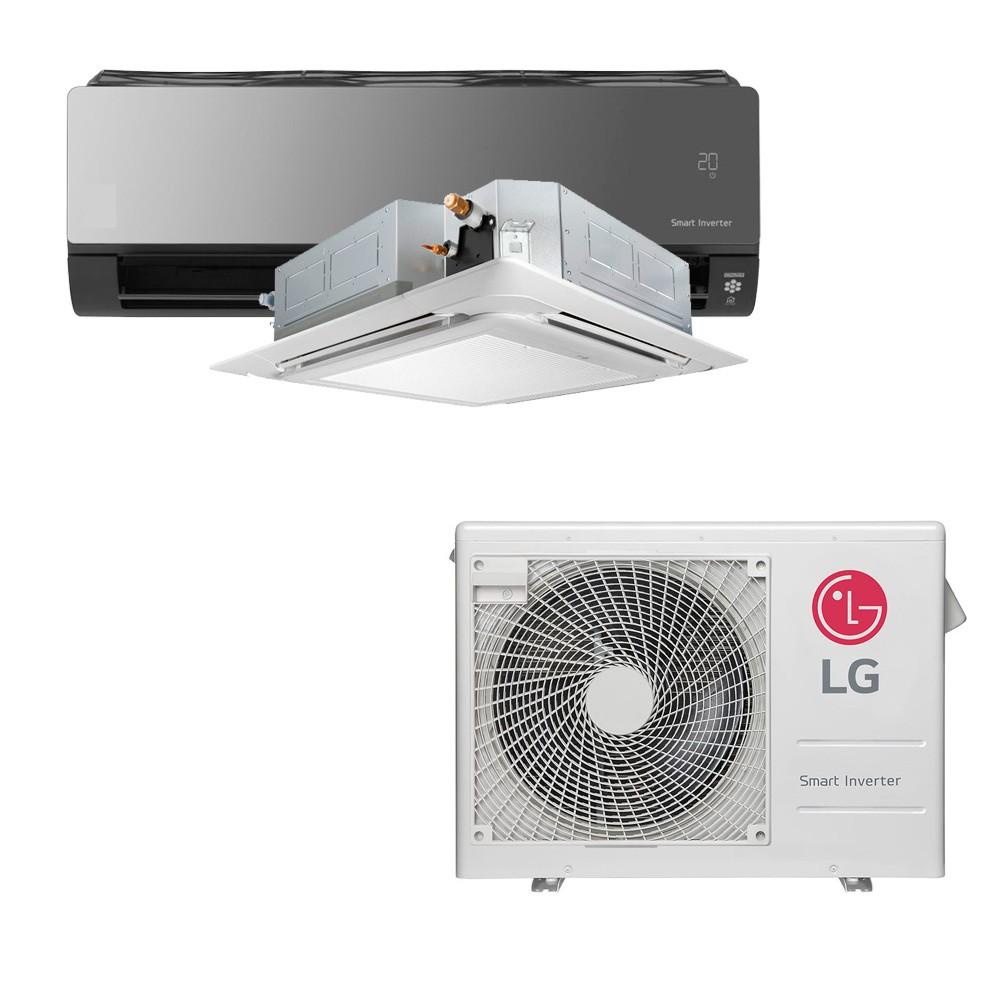 Ar Condicionado Multi Split Inverter LG 24.000 BTUS Quente/Frio 220V +1x Cassete 4 Vias LG 12.000 BTUS +1x High Wall LG Art Cool com Display e Wi-Fi 12.000 BTUS
