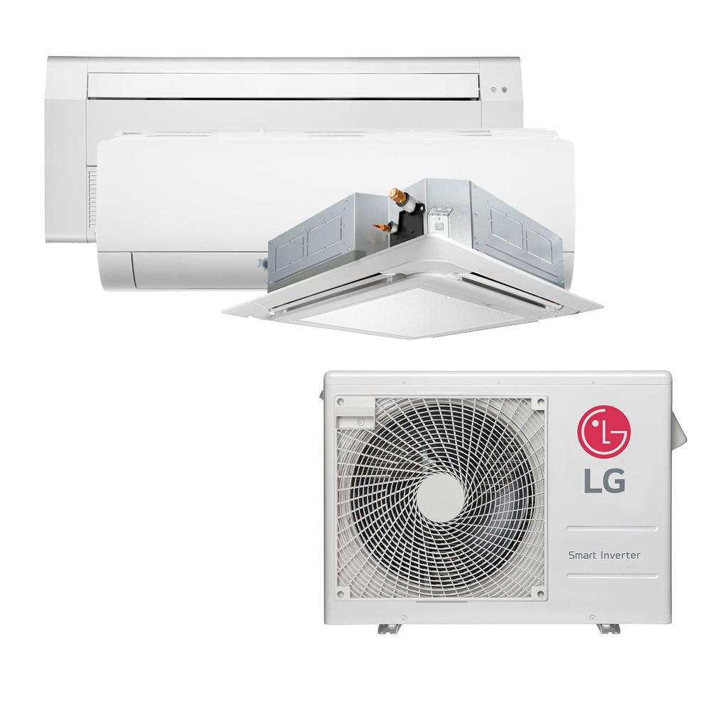 Ar Condicionado Multi Split Inverter LG 24.000 BTUS Quente/Frio 220V +1x Cassete 4 Vias LG 9.000 BTUS +1x High Wall LG Com Display 9.000 BTUS +1x Cassete 1 Via LG 18.000 BTUS