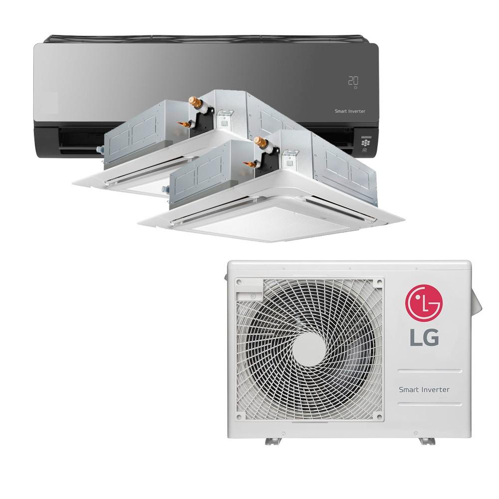 Ar Condicionado Multi Inverter LG  24.000 BTUS Quente/Frio 220V +1x Cassete 4 Vias  9.000 BTUS +1x Cassete 4 Vias  12.000 BTUS +1x HW  Art Cool com Display e Wi-Fi 12.000 BTUS