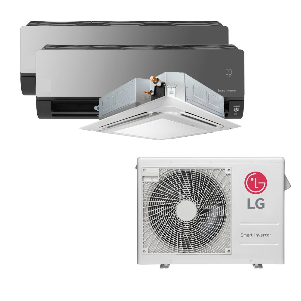 Ar Condicionado Multi Split Inverter LG 24.000 BTUS Quente/Frio 220V +1x Cassete 4 Vias LG 9.000 BTUS +2x High Wall LG Art Cool com Display e Wi-Fi 12.000 BTUS