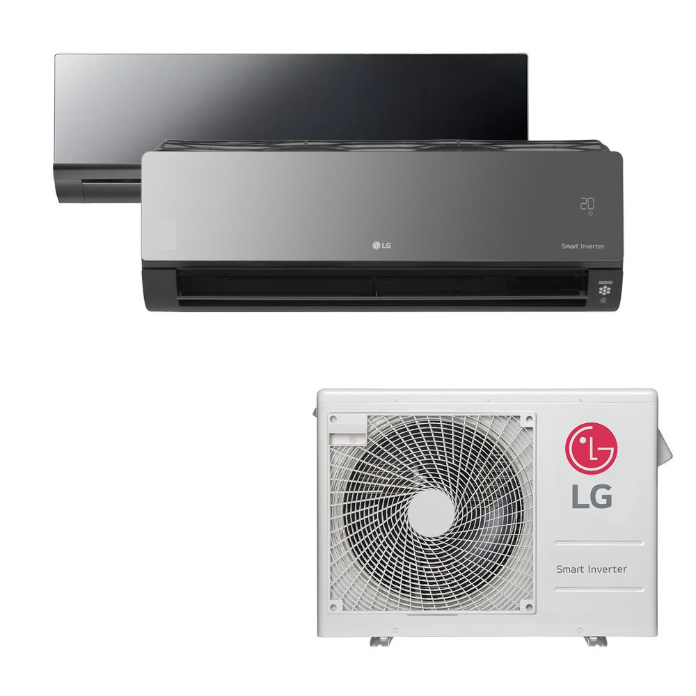 Ar Condicionado Multi Split Inverter LG 24.000 BTUS Quente/Frio 220V +1x High Wall LG Art Cool 12.000 BTUS +1x High Wall LG Art Cool com Display e Wi-Fi 12.000 BTUS