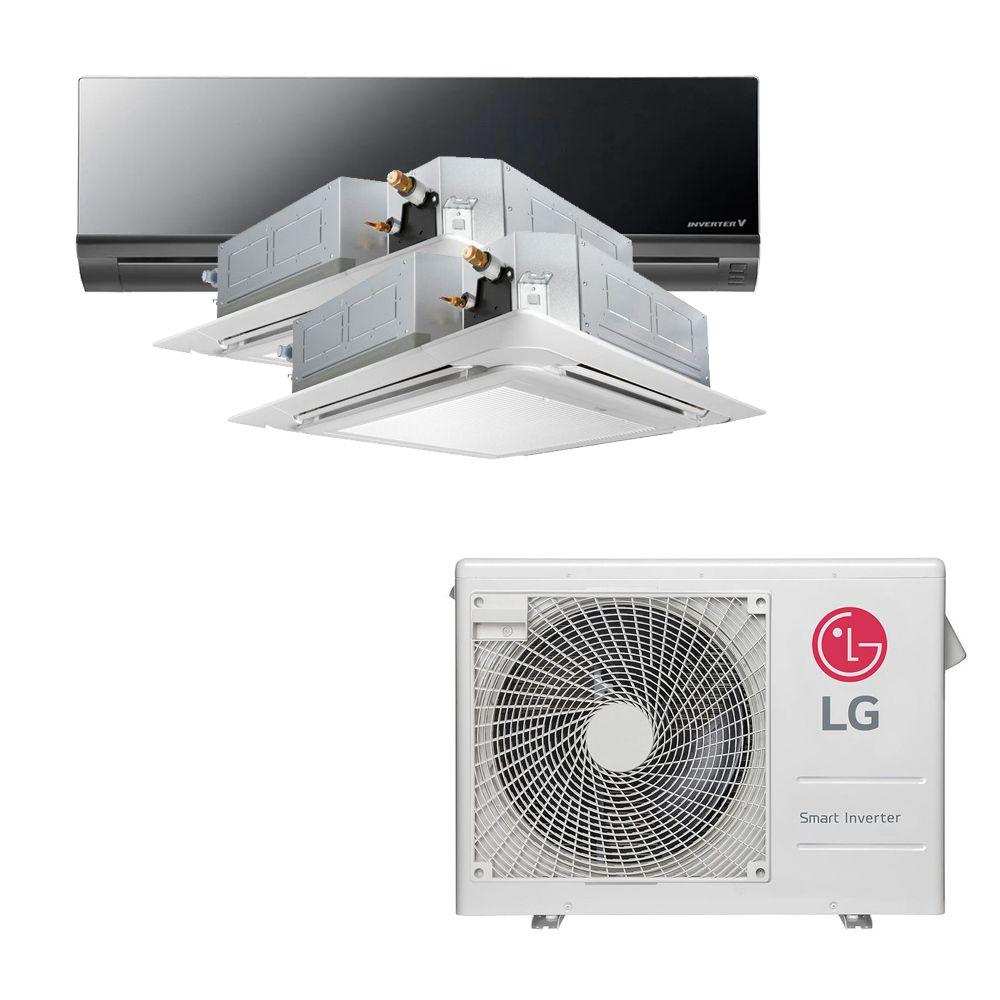 Ar Condicionado Multi Split Inverter LG 24.000 BTUS Quente/Frio 220V +1x High Wall LG Art Cool 9.000 BTUS +2x Cassete 4 Vias LG 9.000 BTUS