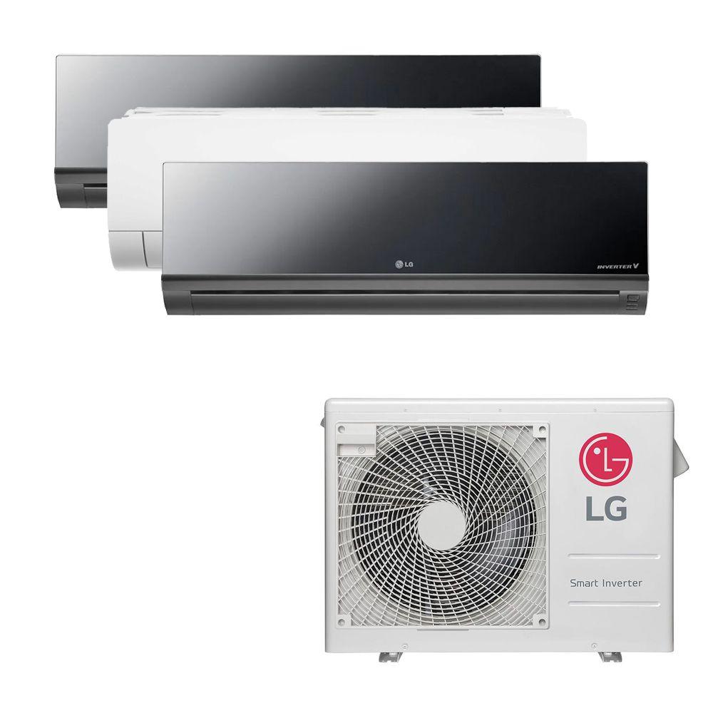 Ar Condicionado Multi Split Inverter LG  24.000 BTUS Quente/Frio 220V +1x HW  Art Cool 9.000 BTUS +1x HW  Com Display 9.000 BTUS +1x HW  Art Cool 18.000 BTUS