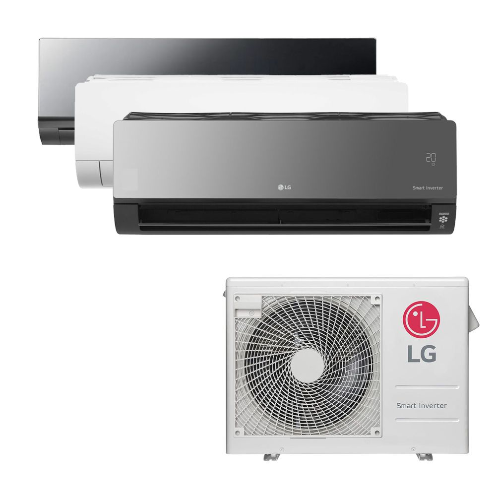 Ar Condicionado Multi Split Inverter LG  24.000 BTUS Quente/Frio 220V +1x HW  Art Cool 9.000 BTUS +1x HW  Com Display 9.000 BTUS +1x HW  Art Cool com Display e Wi-Fi 18.000 B