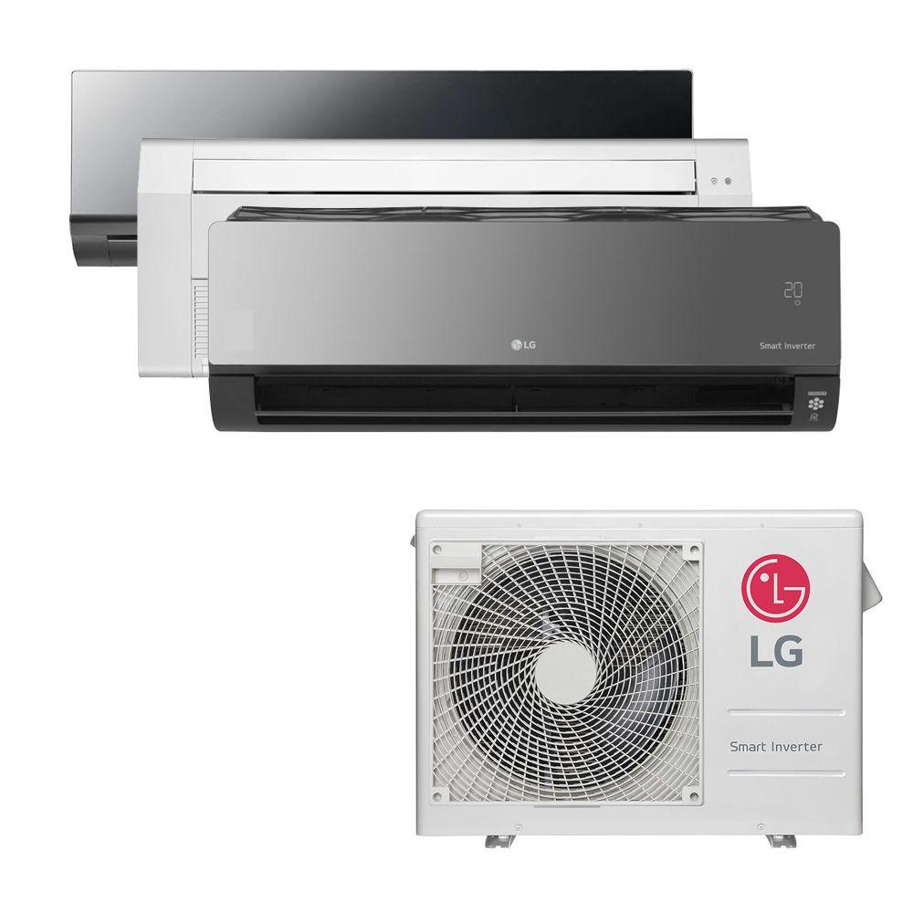 Ar Condicionado Multi Split Inverter LG  24.000 BTUS Quente/Frio 220V +1x HW  Art Cool 9.000 BTUS +1x Cassete 1 Via  12.000 BTUS +1x HW  Art Cool com Display e Wi-Fi 12.000 BTUS