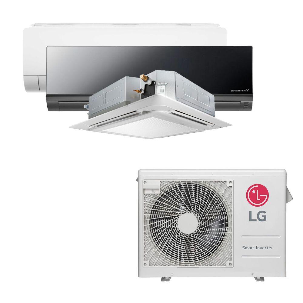 Ar Condicionado Multi Split Inverter LG  24.000 BTUS Quente/Frio 220V +1x HW  Com Display 9.000 BTUS +1x HW  Art Cool 12.000 BTUS +1x Cassete 4 Vias  12.000 BTUS