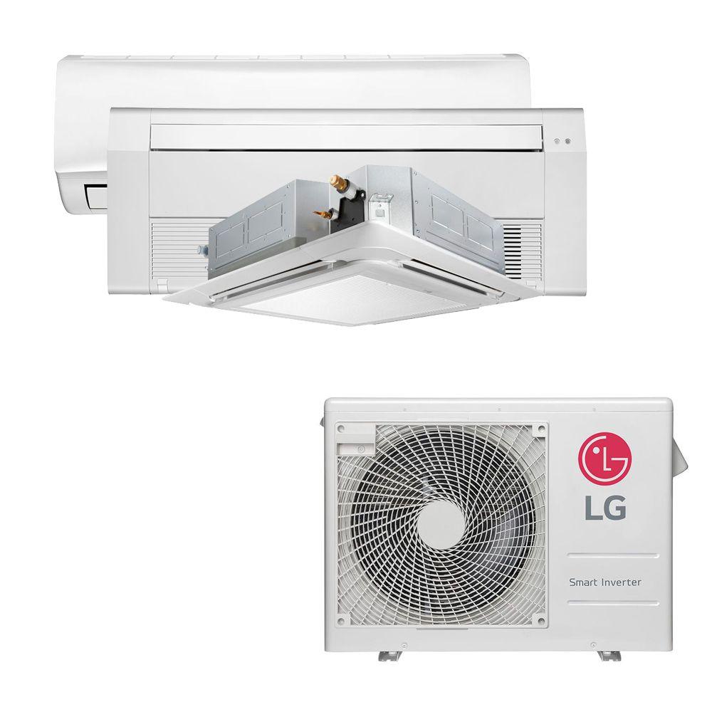 Ar Condicionado Multi Split Inverter LG 24.000 BTUS Quente/Frio 220V +1x High Wall LG Libero 7.000 BTUS +1x Cassete 1 Via LG 9.000 BTUS +1x Cassete 4 Vias LG 9.000 BTUS