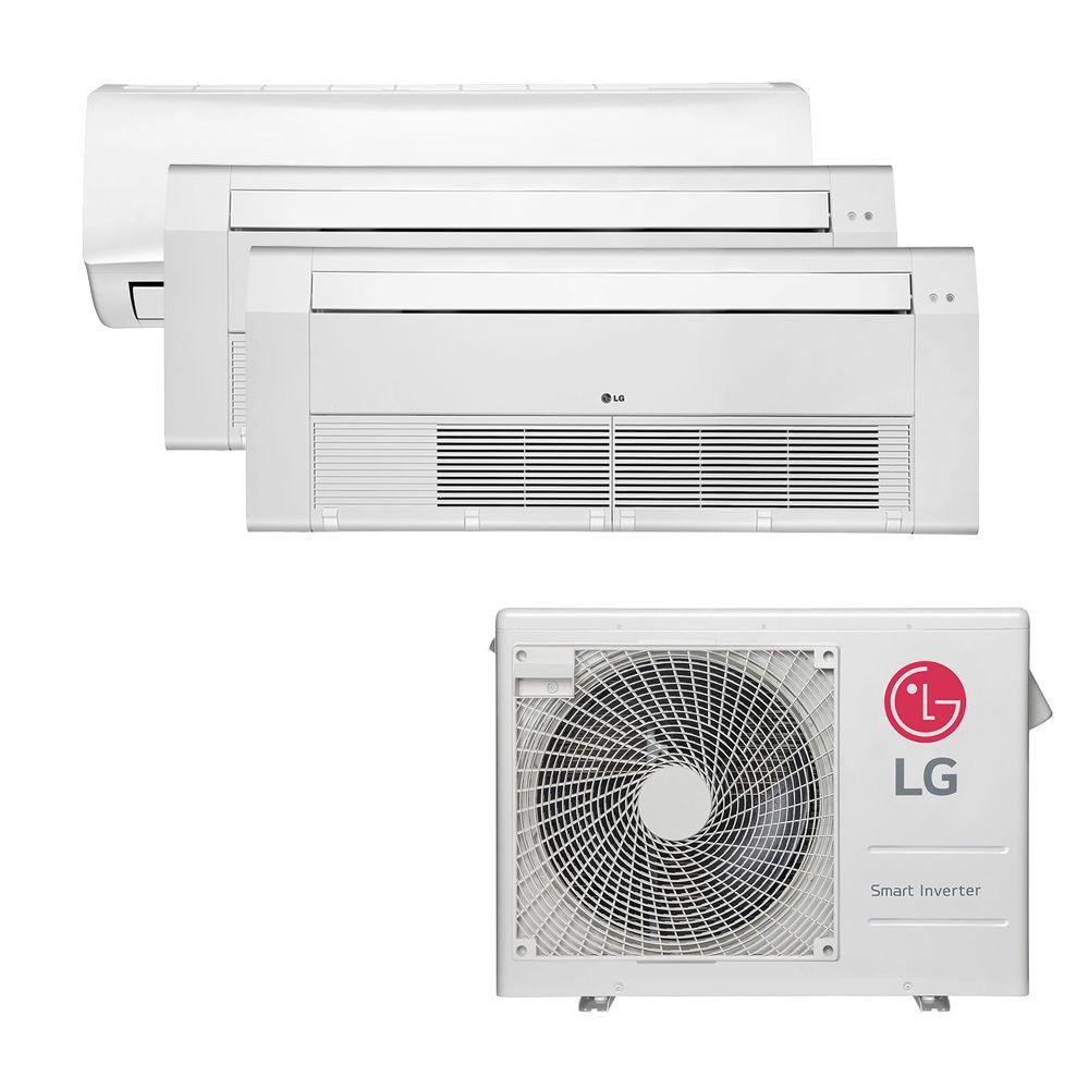 Ar Condicionado Multi Split Inverter LG 24.000 BTUS Quente/Frio 220V +1x High Wall LG Libero 7.000 BTUS +1x Cassete 1 Via LG 9.000 BTUS +1x Cassete 1 Via LG 12.000 BTUS