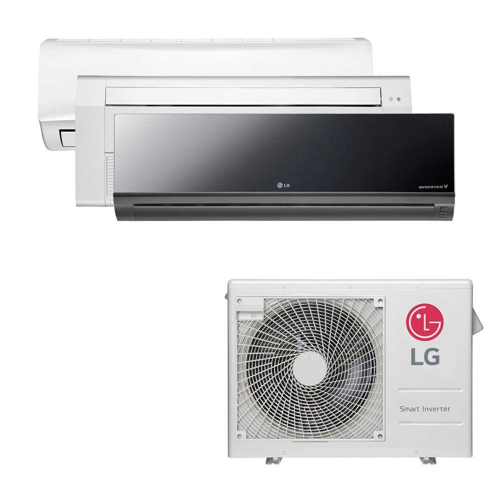 Ar Condicionado Multi Split Inverter LG 24.000 BTUS Quente/Frio 220V +1x High Wall LG Libero 7.000 BTUS +1x Cassete 1 Via LG 9.000 BTUS +1x High Wall LG Art Cool 12.000 BTUS